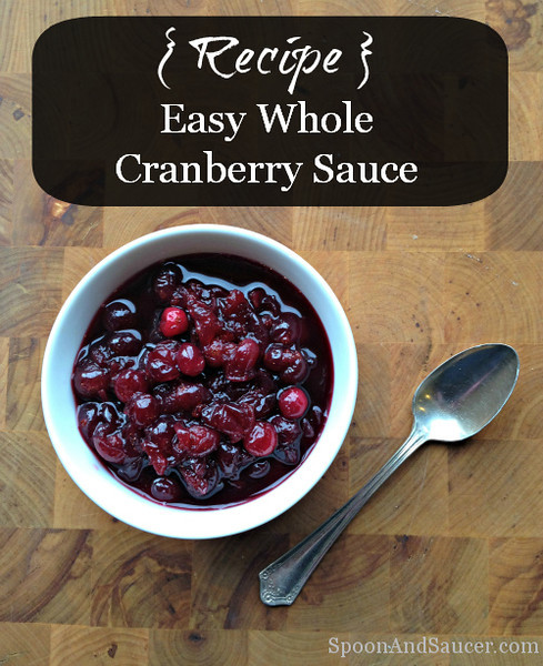 Easy Whole Cranberry Sauce